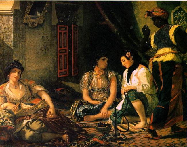 Эжен Делакруа 'Алжирские женщины в своих комнатах'