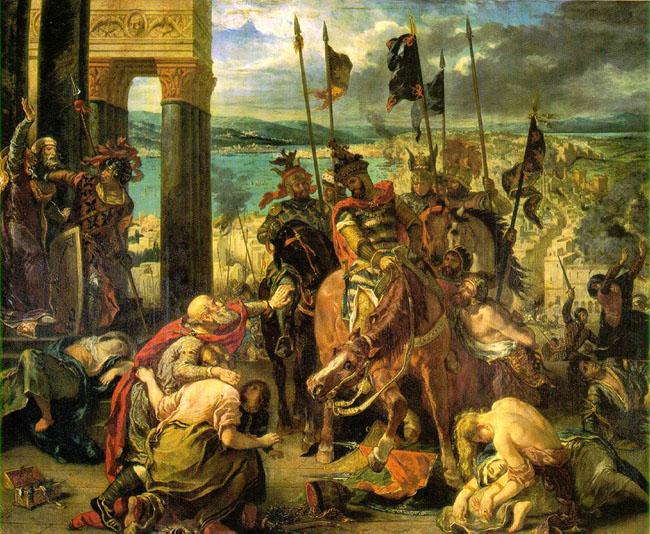 Эжен Делакруа 'Вход крестоносцев в Константинополь'
