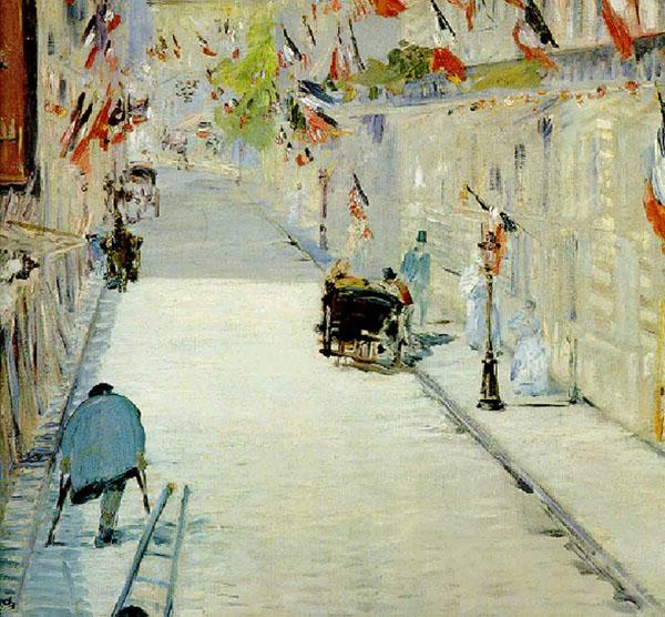 Эдуард мане улица монье с флагами