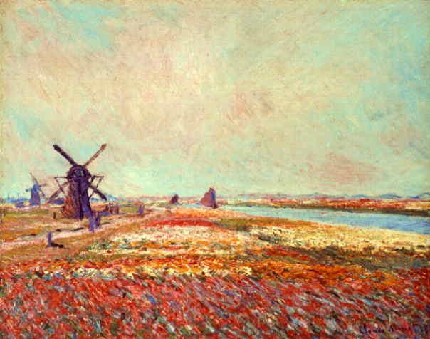 """Клод Моне """"Поле тюльпанов и ветряная мельница около Лейдена"""""""
